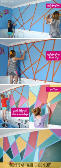 Modern Art Wall Design DIY for the Coolest Wall Ever!