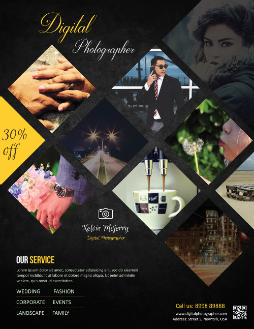 Business Flyer Templates for Photographers to Promote Business