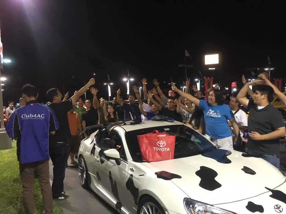 The meet at  Longo Toyota