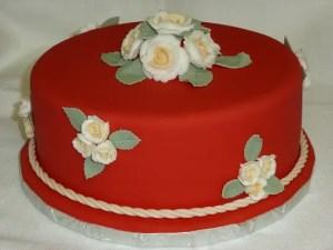Decoracion con rosas de royal icing