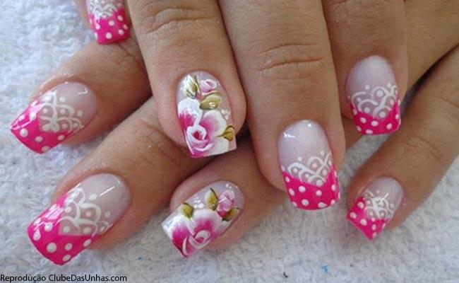 unhas-rosa-flores
