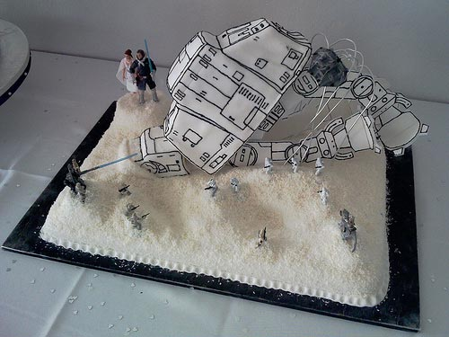 IMAGE: The Battle of Hoth, in cake form