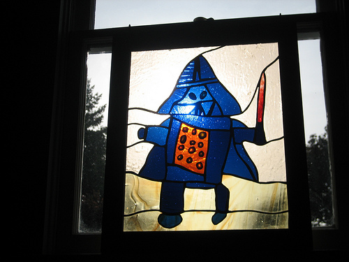 Paul Souders\'s Stained Glass Darth Vader, photo from axoplasm @ Flickr