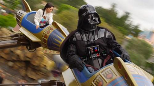 Vader at Disneyland.