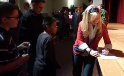 USO Ashley Eckstein signs autographs