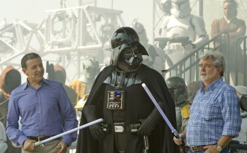Disney CEO Bob Iger and George Lucas