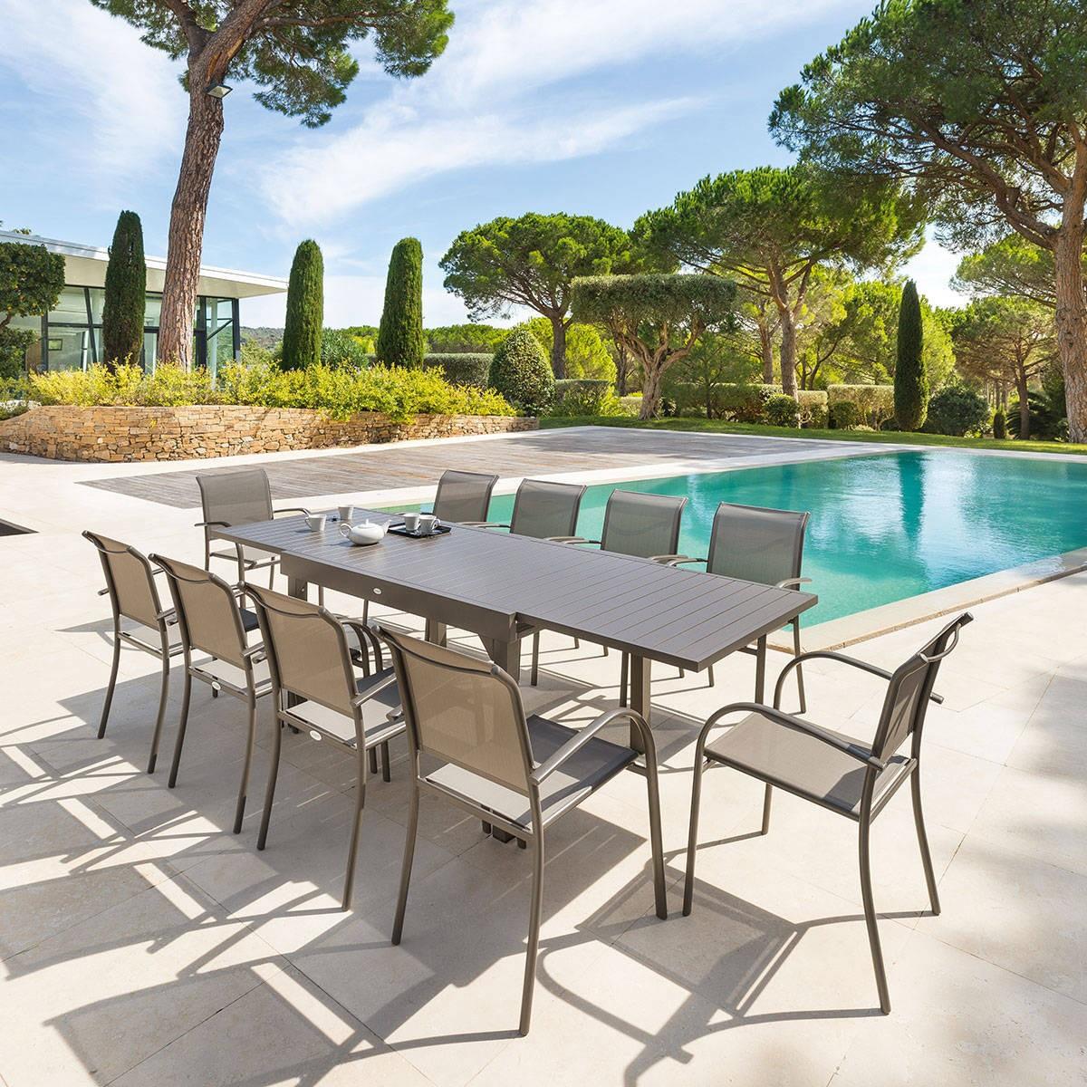 Stunning Salon De Jardin En Aluminium Hesperide Photos - House ...