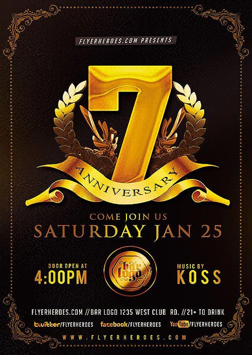 Anniversary Party Flyer Template Clubpartyflyer - anniversary flyer