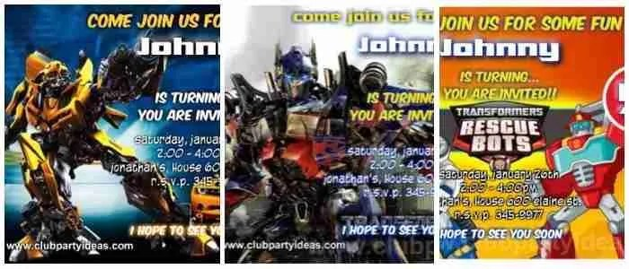 Transformers Birthday Invitations Printable Free - Clubpartyideas