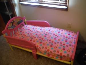 Anyone need a broken Dora bed?