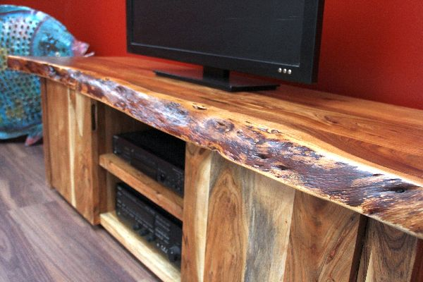 Tv Board Holz Massiv Tv Sideboard, Suar, Holz, Massiv, Schrank, Board, Tv, Hifi
