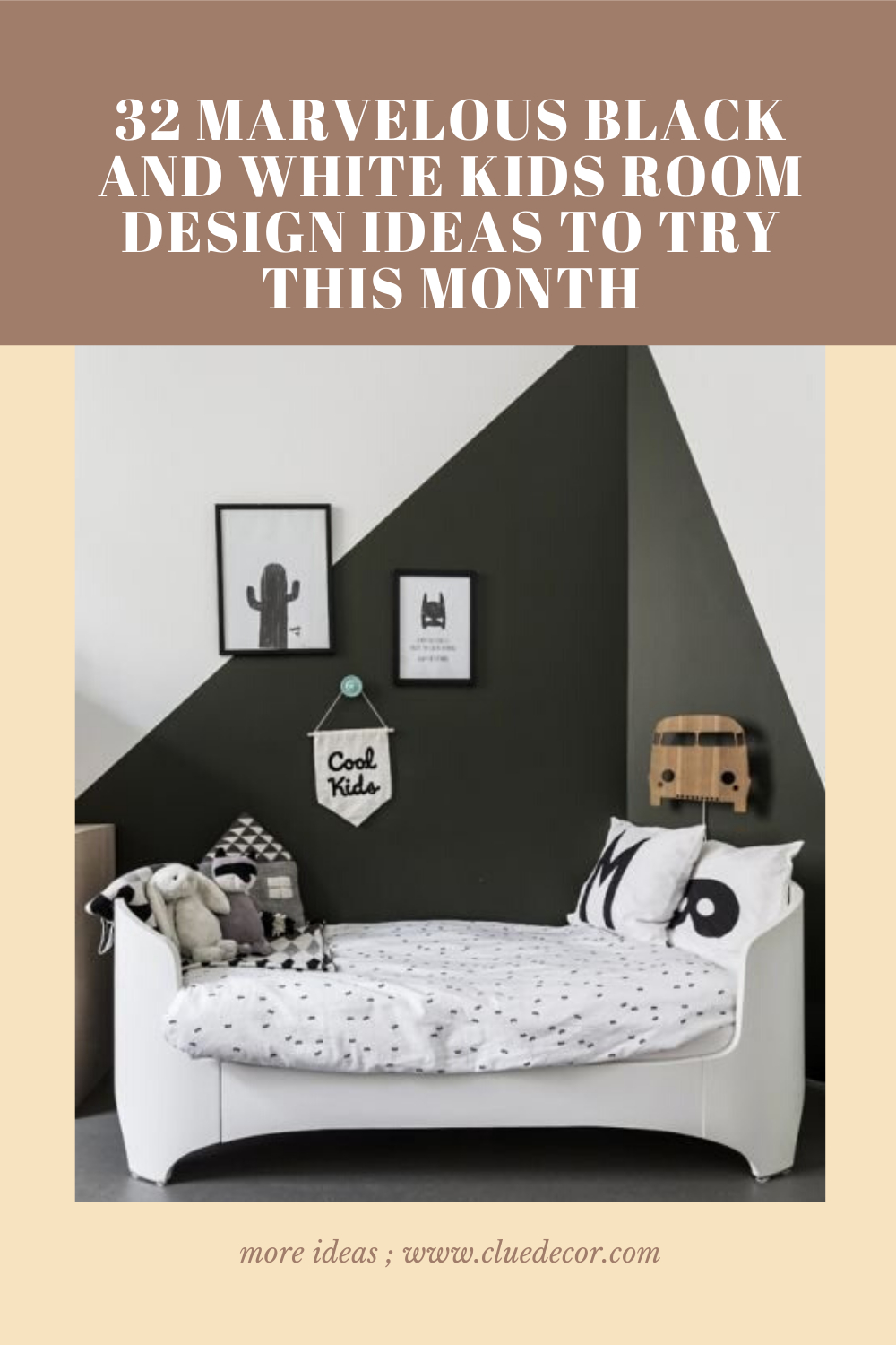 32 Marvelous Black And White Kids Room Design Ideas To Try This Month Cluedecor