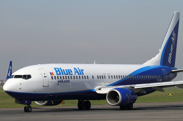 Blue Air introduce zboruri pe ruta Cluj-Napoca - Bucuresti