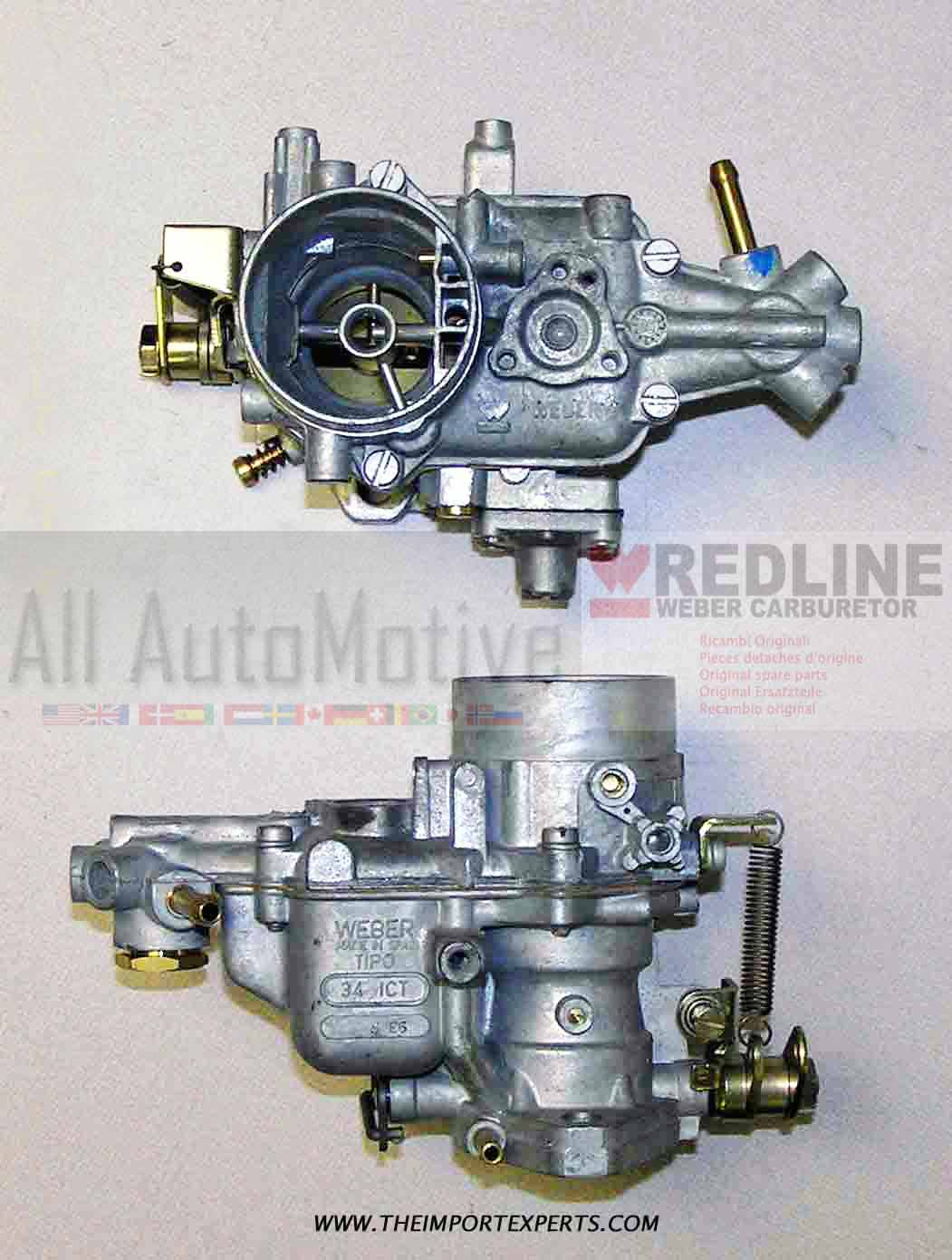 Dubbele Webers Weber Redline 34 Ict 34 Ich Dual Carburetor Carb Jetting