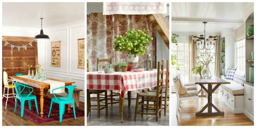 85 Best Dining Room Decorating Ideas - Country Dining Room Decor - kitchen table decorating ideas
