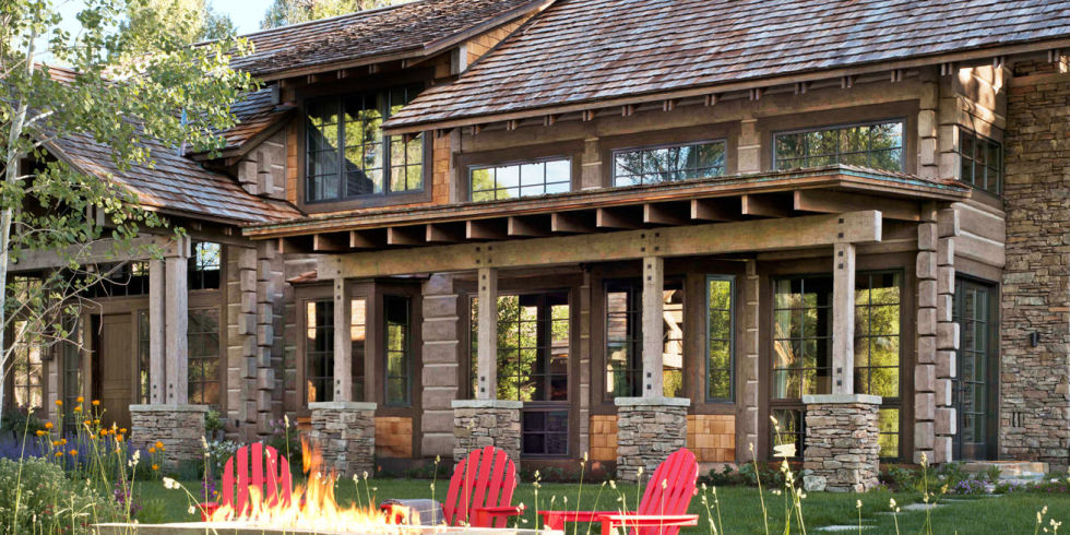 Wyoming Log Cabin - Cozy Log Cabin Decorating Ideas - log home decorating ideas