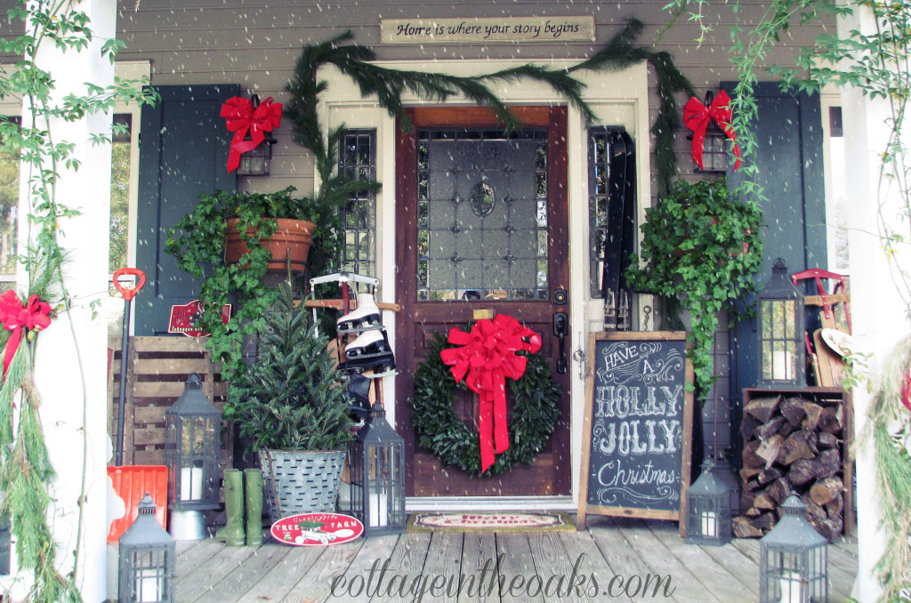 34 Outdoor Christmas Decorations - Ideas for Outside Christmas - christmas decorations outdoors