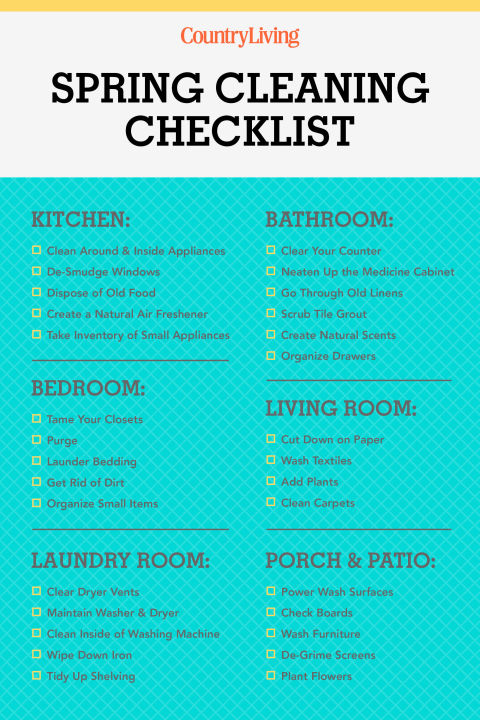 30+ Spring Cleaning Checklist \ Tips - How To Spring Clean - spring cleaning checklist