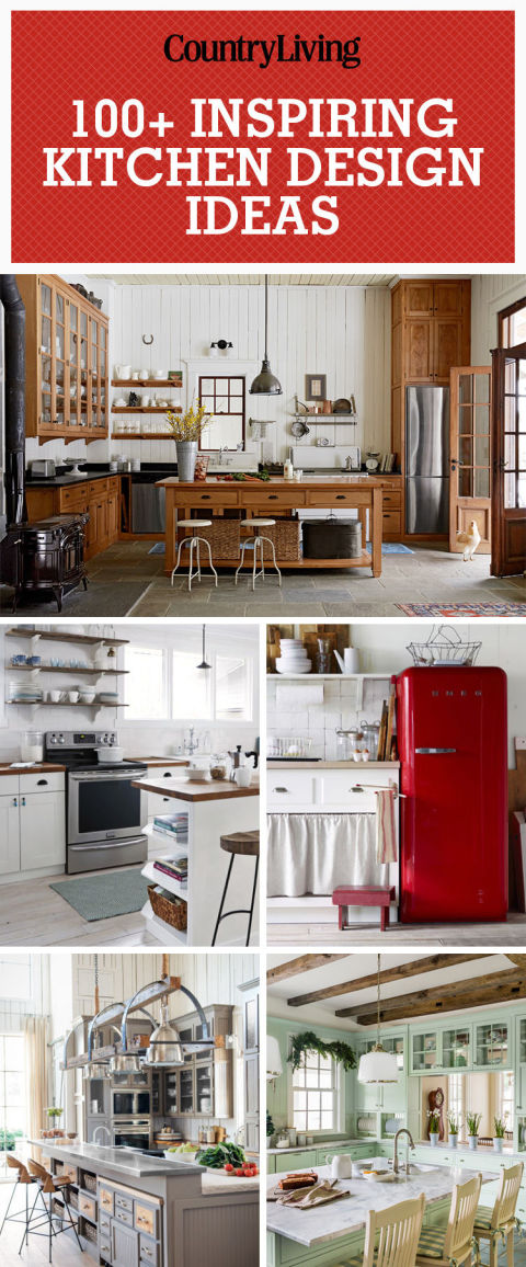 100+ Kitchen Design Ideas - Pictures of Country Kitchen Decorating - decor ideas for kitchen