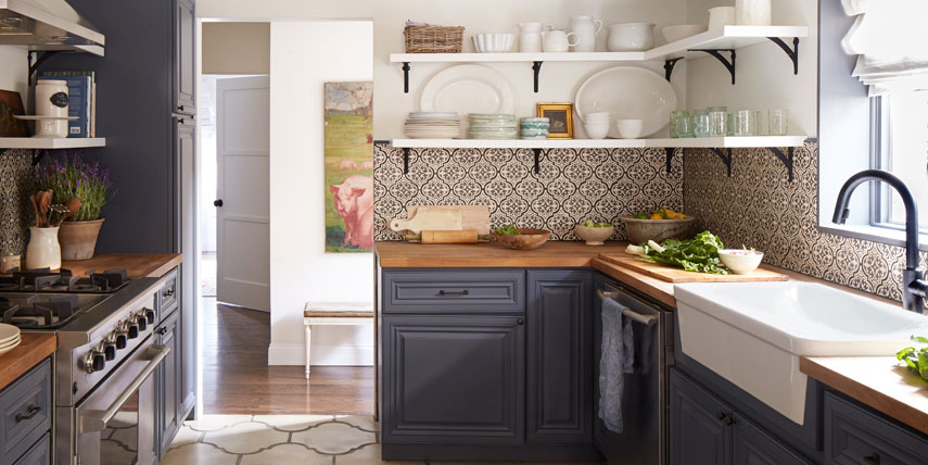 Two-Toned Kitchen Cabinets - Painting Your Kitchen Cabinets