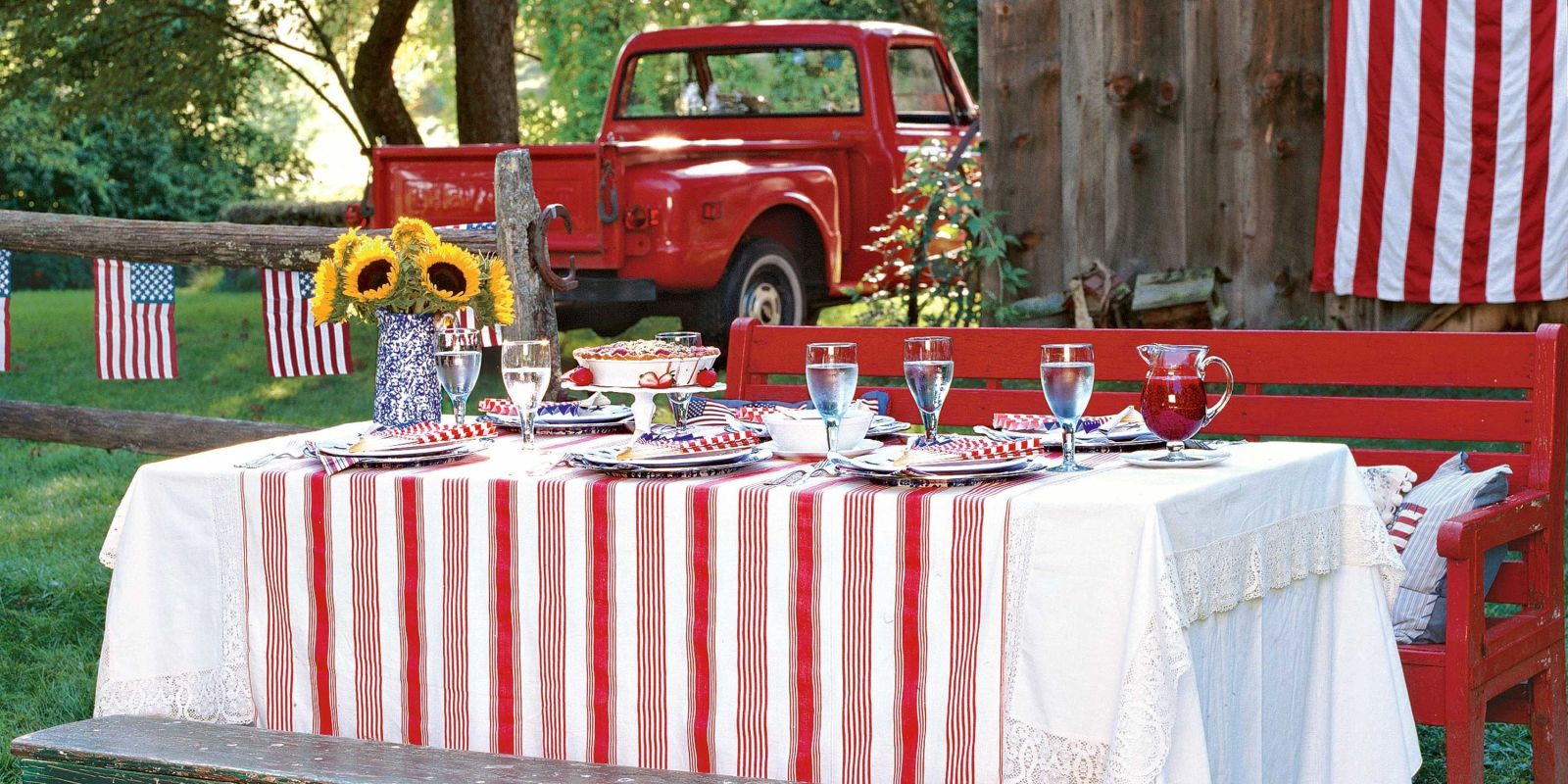 Picnic Themed Decorations 4th Of July Picnic Party Food And Decor