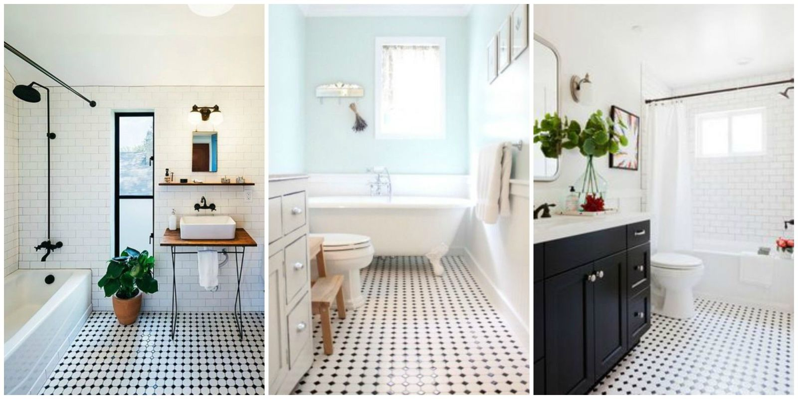 Black Tiled Bathroom Classic Black And White Tiled Bathroom Floors Are Making A
