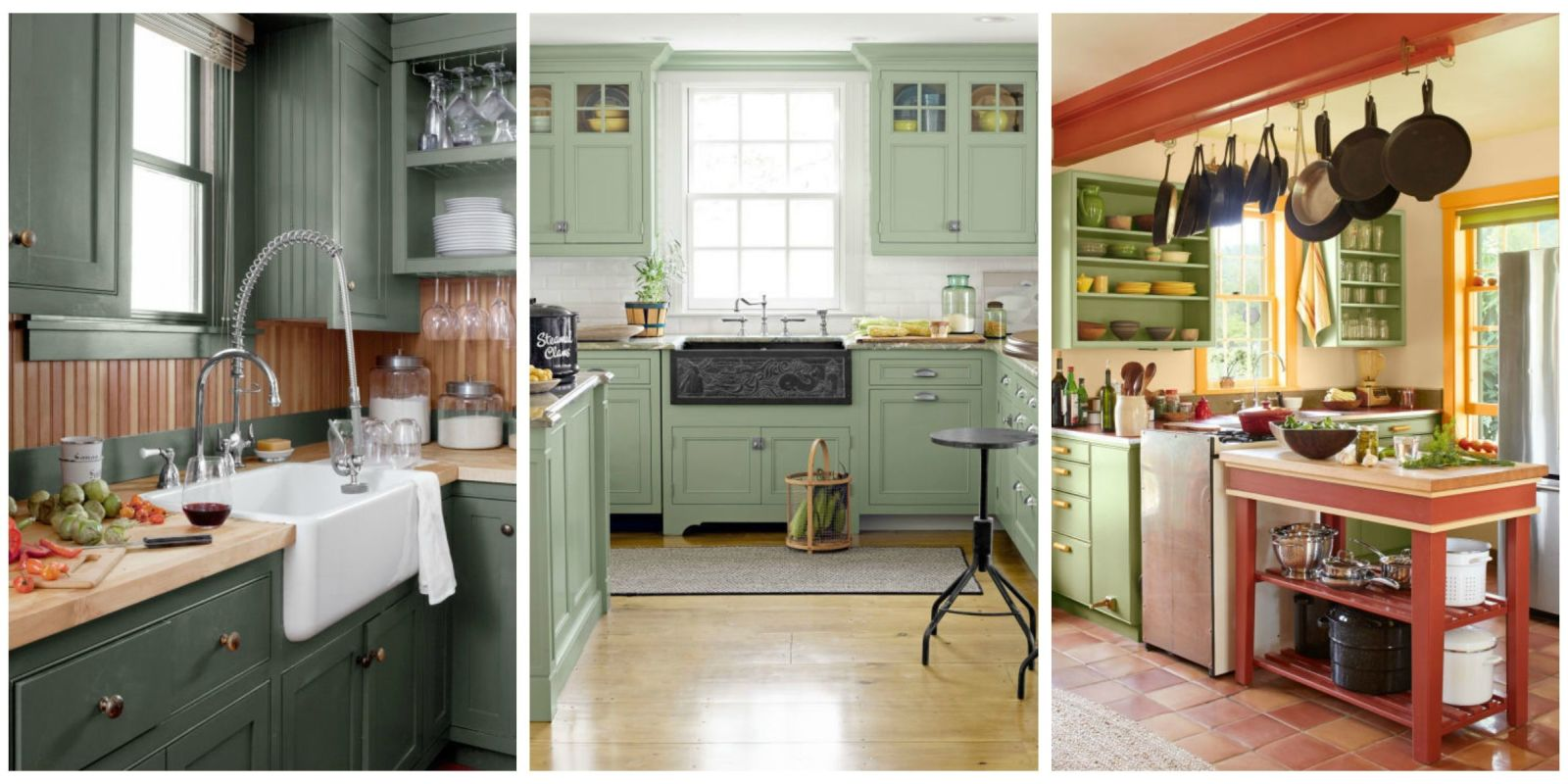 Green Cuisine Cafe 10 Green Kitchen Ideas Best Green Paint Colors For Kitchens