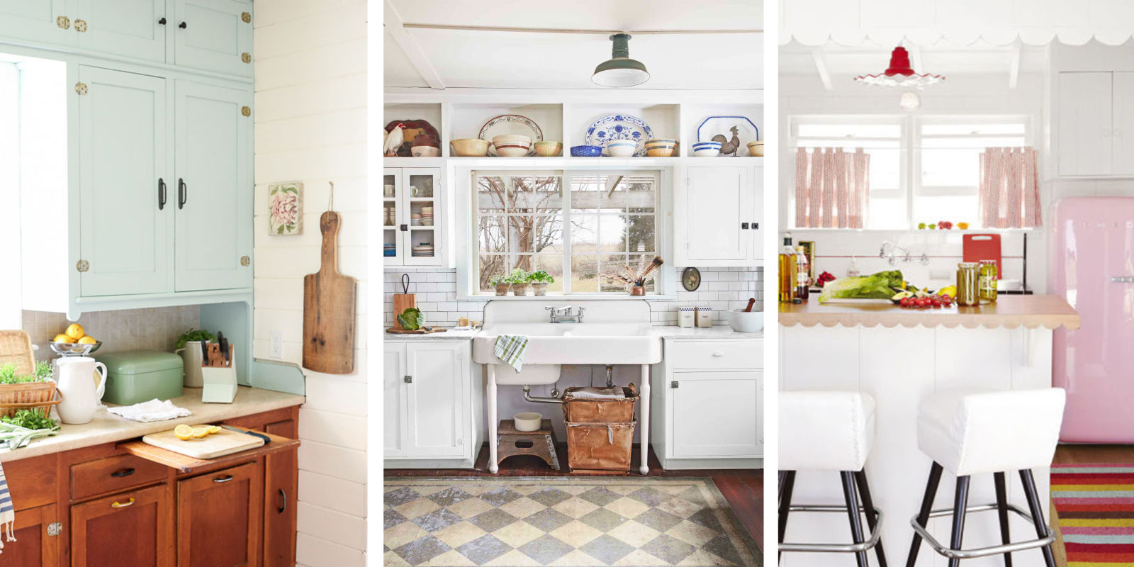 Vintage Style Kitchens 20 Vintage Kitchen Decorating Ideas Design Inspiration