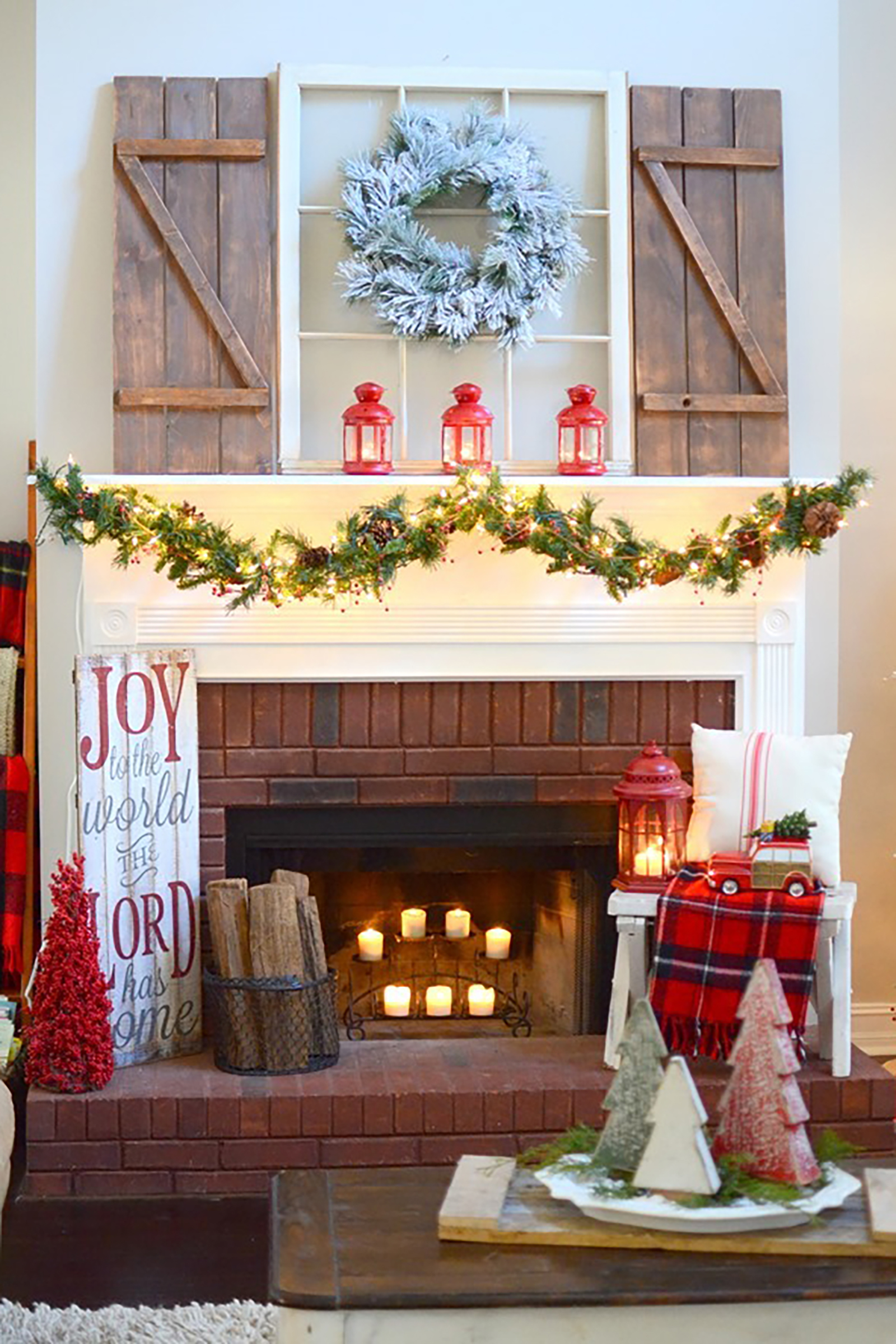 Farmhouse Rustic Fireplace Mantel Decor 35 Christmas Mantel Decorations Ideas For Holiday