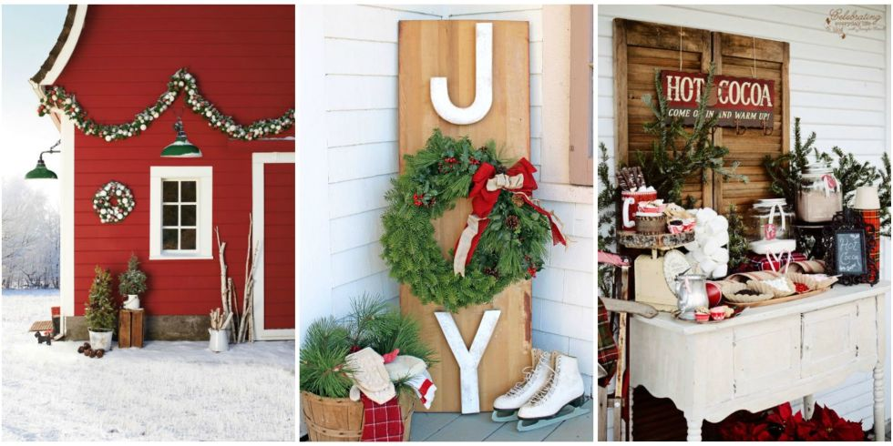 34 Outdoor Christmas Decorations - Ideas for Outside Christmas - christmas decorations outside
