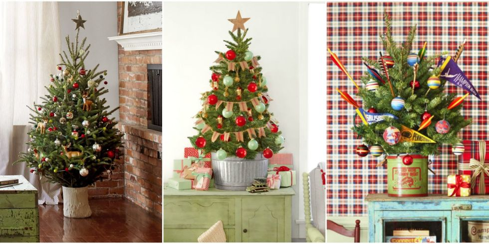 18 Best Small Christmas Trees - Ideas for Decorating Mini - small decorative christmas trees