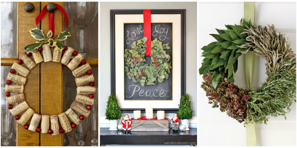 50+ DIY Christmas Wreath Ideas - How To Make Holiday Wreaths Crafts - christmas wreath decorations