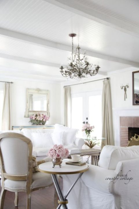 California French Country Style Cottage House Tour - Elegant - french style living room