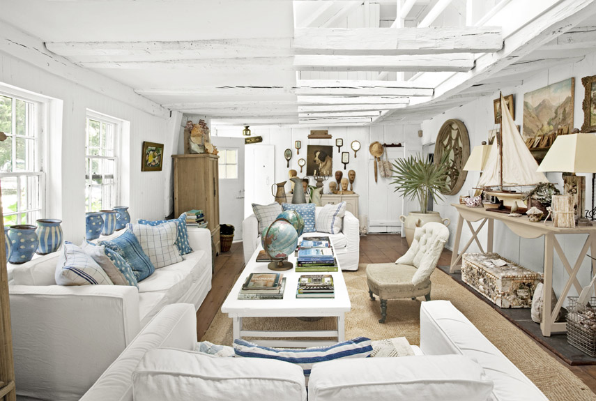 40+ Beach House Decorating - Beach Home Decor Ideas - beach theme living room