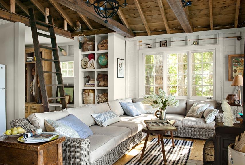 Lake House Decorating Ideas - New Hampshire Cabin Decorating - new home decorating ideas