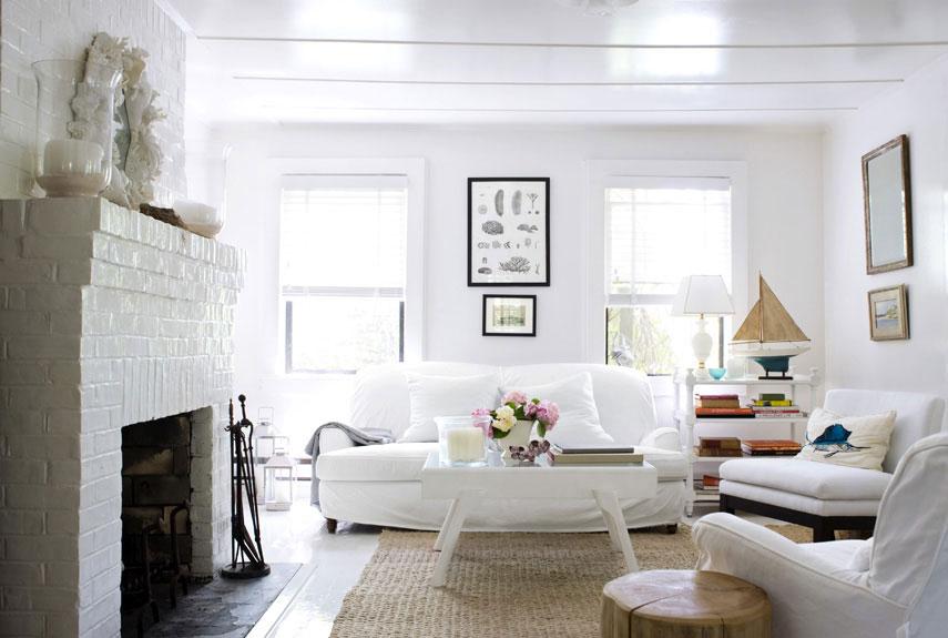 30 White Living Room Decor - Ideas for White Living Room Decorating - all white living room