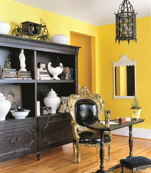 Yellow Decor - Decorating with Yellow - yellow living room walls
