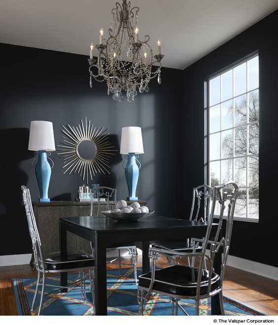 How to Decorate with Dark Paint - Dark Wall Paint Colors - paint colors for living room walls with dark furniture