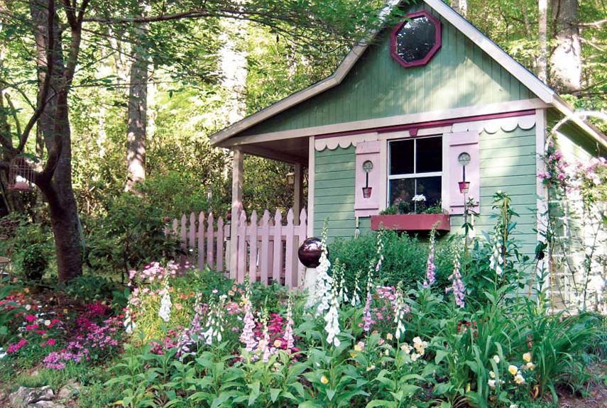 14 Whimsical Garden Shed Designs - Storage Shed Plans \ Pictures - garden shed design