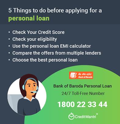 Bank Of Baroda Personal Loan Customer Care Number: 24x7