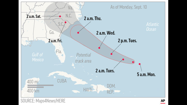HURRICANE FLORENCE UPDATES Millions prepare for potentially