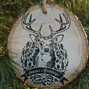 Easy Stamped Wood Ornament DIY