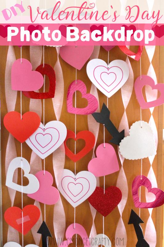 Classroom Decor On A Budget ~ Diy valentine s photo backdrop c mon get crafty