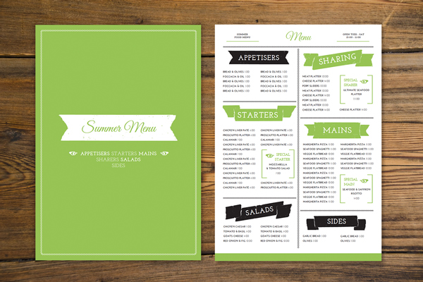 How to Create a Tasty, Trendy Menu Card in Adobe InDesign - how to make a menu for a restaurant