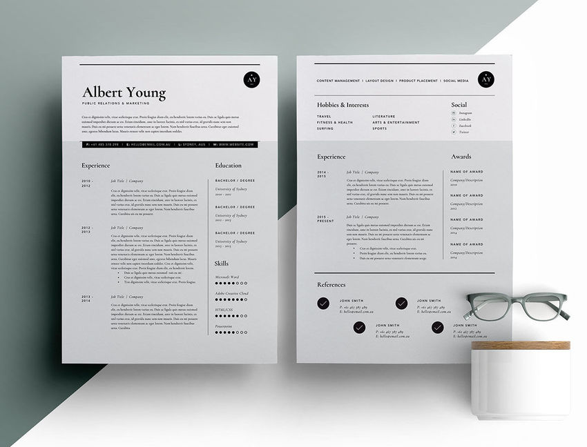 50+ Professional Resume  CV Templates - Resume Design