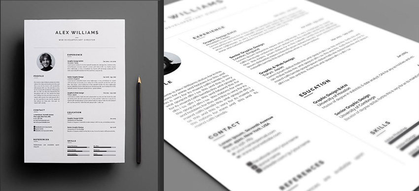 50+ Professional Resume  CV Templates - Simple Resume Design
