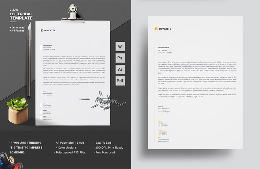 11 Tips for Creating Professional Letterhead - letterhead layout