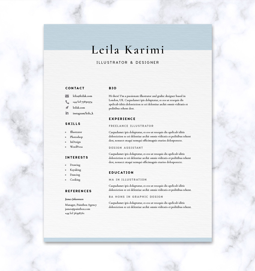 How to Create a CV - appropriate font for resume