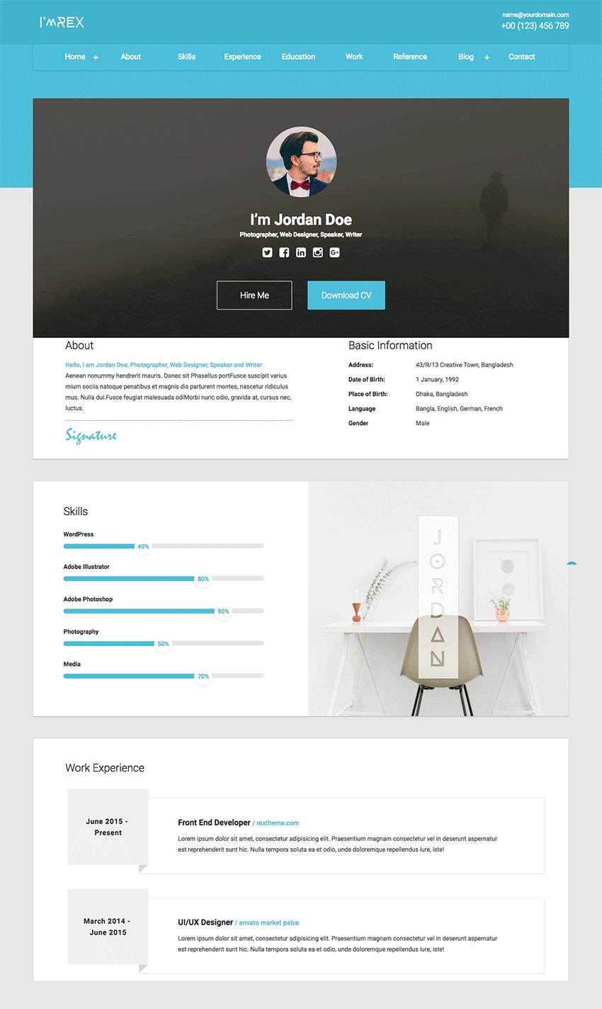 site design html cv