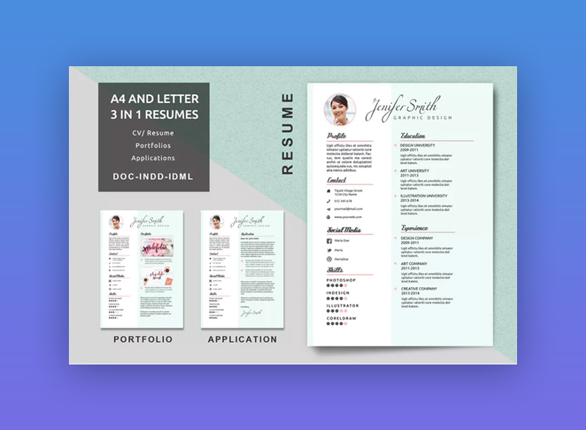 18+ Modern Resume Templates With Clean (Elegant) Designs (2018)